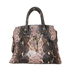Giorgio's of Palm Beach Pastel Python Tote Bag | From a collection of rare vintage handbags and purses at https://www.1stdibs.com/fashion/accessories/handbags-purses/
