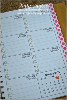 An Inside to my Heart...: National Papercrafting Month - celebrate with Noted... - calendar pages inside spiral bound book #CTMHMyCrush #tutorial for adding pages to the book