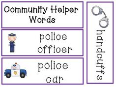 Community Helper - Writing Words - 40 words!!!