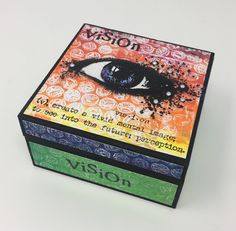 Box of Vision - created by Teresa Morgan - visible image stamps - inky eye stamp, grungy eye stamp