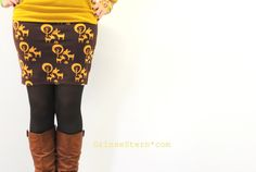 GrinseStern: mmm {me made mittwoch} . Diy Fashion, Riding Boots, Sewing, Rock, Fabrics, Tutorials, Crafting, Laughing, Kaffee