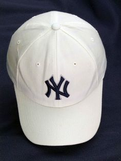 Baseball Cap New York Yankees hat mens white Flexifit men womans clothing 276