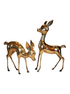 Hollywood Regency Brass Deer, Pair | The HighBoy | www.thehighboy.com