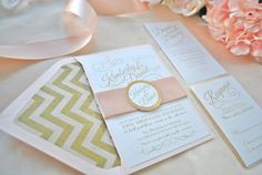 Romantic Blush Wedding Invitation by OuttheBoxCreative on Etsy, $2.75