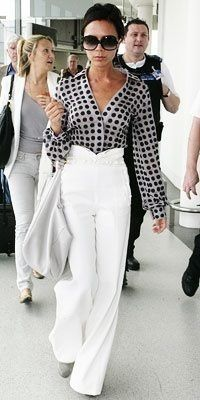 Victoria Beckham in Victoria Beckham. That blouse with the polka dots.