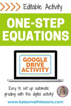 Check out this digital Google Drive Activity to help your algebra students practice solving one-step equations! Includes 20 equations - you can add your own or delete any you don't want to use. Download includes instructions on how to easily set up automatic grading! Math Teacher, Teaching Math, Math Class, Math 8, Teacher Stuff, Teaching Ideas, Algebra Activities, Math Resources, Classroom Resources