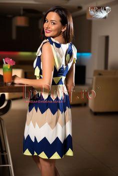 Rochie lejera de vara joc de linii Summer Dresses, Fashion, Moda, Fashion Styles, Fasion, Summer Outfits, Summertime Outfits, Summer Outfit, Sundresses