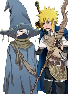 <3 Kakashi & Minato (Team Minato) - Dunno what this is inspired from, but it's cute!