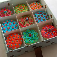 Delicious -- and colorful -- cupcakes.