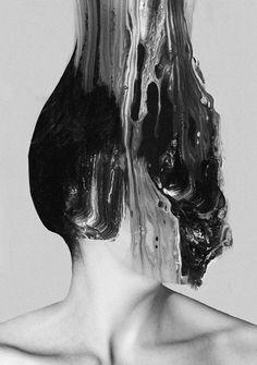 christo dagorov - portrait rising up Glitch Art, Photoshop, The Dark Side, Plakat Design, Psy Art, Gif Animé, Animated Gif, Dark Angels, Foto Art