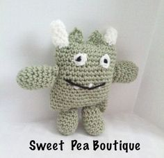 This cute crochet monster is the perfect companion for your little one. It is…