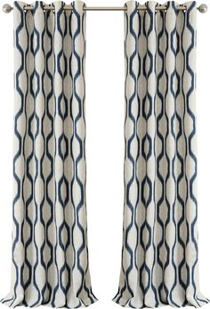 You'll love the Renzo Geometric Grommet Single Curtain Panel at Joss & Main - With Great Deals on all products and Free Shipping on most stuff, even the big stuff.