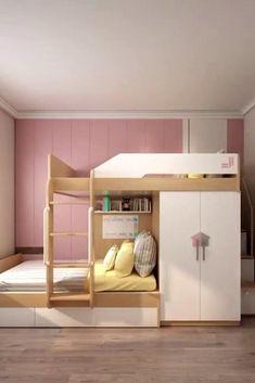 Kids Bedroom Furniture Design, Small Room Design Bedroom, Small House Interior Design, Kids Bedroom Designs, Room Ideas Bedroom, Home Room Design, Kids Room Design, Girls Bedroom, Bedrooms