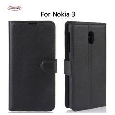 HUDOSSEN Capa Coque For Nokia 3 Case Leather Flip Cover For Nokia 3 Cell Phone Bag Cases Fundas Carcasa Mobile Phone Accessories