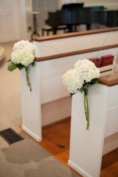 ♥ white HYDRANGEAS aisle decor - Savannah Golf Club Wedding from Britt Croft Photography