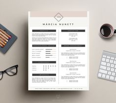 professional resume template and cover letter template for ms word iwork pages instant digital - Template Professional Resume