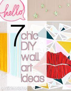 7+Chic+DIY+Wall+Art+Ideas