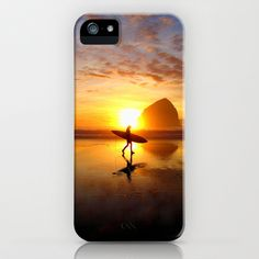 Surfer at Sunset iPhone & iPod Case  - $35.00