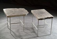 Francesco Passaniti: Contemporary concrete stool  PUZZLE, using Ductal light weight concrete