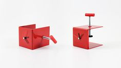 Vice Clock by Poorex, can be attached to various surfaces.