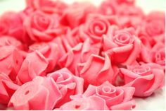 Miniature Roses Mini Flowers Polymer Clay Supplies 50 pcs. $9.90, via Etsy.