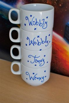 Doctor Who Wibbly Wobbly Timey Wimey Stacking Mug Set