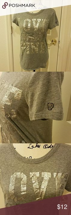 Very good condition PINK T-SHIRT Sparkle it up PINK Victoria's Secret Tops Tees - Short Sleeve
