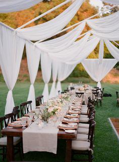 #tents, #ceiling  Photography: Michael & Anna Costa Photography ~ Michael Costa - michaelandannacosta.com  Read More: http://www.stylemepretty.com/2014/07/24/sunny-al-fresco-wedding-in-ojai/