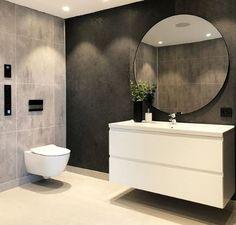 Diy Bathroom, Bathroom Grey, Modern Bathroom Decor, Modern Bathroom Design, Bathroom Interior, Small Bathroom, Bathroom Lighting Inspiration, Vibeke Design, Ideas