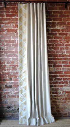 96L Gilt Triangles Panel by MarthaAndAsh on Etsy, $205.00