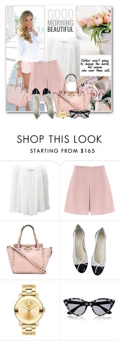 """""""Valentino Silk Shorts"""" by brendariley-1 ❤ liked on Polyvore featuring Michael Kors, Valentino, Chanel, Movado and Opening Ceremony"""