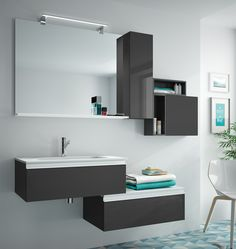 Bathroom Cabinets and 50 Storage Ideas Minimalist Bathroom Furniture, Small Bathroom Furniture, Small Bathroom Cabinets, Hanging Furniture, Bathroom Interior, Interior Design Living Room, Wooden Furniture, Modern Small Bathrooms, Modern Bathroom