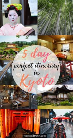 An epic 5 day Kyoto Itinerary - Our Kyoto itinerary will show you the most impressive sides of the city and will include information on where to stay, what to eat and several secret gems you can find in many famed star attractions. Kyoto is the perfect place to visit if you are interested in the authentic Japanese experience. Here's what to do in Kyoto in 5 days. #kyoto #japan #itinerary #JapanTravelItinerary