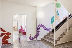 The Architecture of Early Childhood: Children roam amongst colourful critters at this new kindergarten designed by Baukind Kindergarten Interior, Kindergarten Design, Interior Walls, Interior Design, Hospital Design, Learning Spaces, Kid Spaces, Baby Decor, Nursery Room