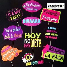 Props para 15 Años!!! #props#photobooth neon 40th Birthday, Birthday Parties, Bolo Neon, Mexican Party, Photo Booth Props, Props Photobooth, Ideas Para Fiestas, Fiesta Party, Party Props