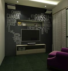 tv feature wall, cheaper and stylo