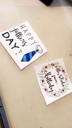 Muttertags-Karte / Vatertags-Karte Pick One, Indoor Garden, Amazing Gardens, Birthday Cards, Presents, Happy, Donuts, Creative Ideas, School Ideas