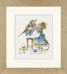 Vera the Mouse by Marjolein Bastin, Love her designs! Cross Stitching, Cross Stitch Embroidery, Marjolein Bastin, Knit Art, Nature Artists, Nature Drawing, House Mouse, Cross Stitch Animals, Dutch Artists
