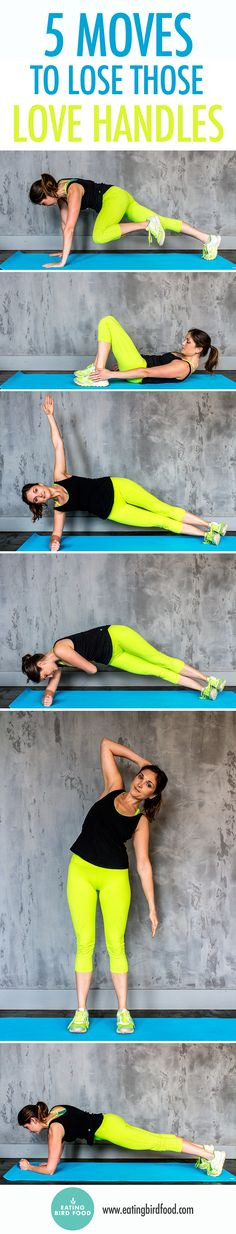 Want to lose your love handles fast? Here's a workout with five exercises that target the core and obliques to help you lose those love handles. I recommend these moves in combination with a regular exercise program and clean eating to see major results Ab Workout At Home, At Home Workouts, Cardio Workouts, Fat Workout, Workout Plans, Fit Girl Motivation, Fitness Motivation, Yoga, Lose Love Handles