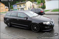 Black VW Passat B6 R36 Wagon