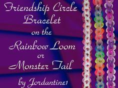 New Friendship Circle Bracelet- Rainbow Loom or Monster Tail