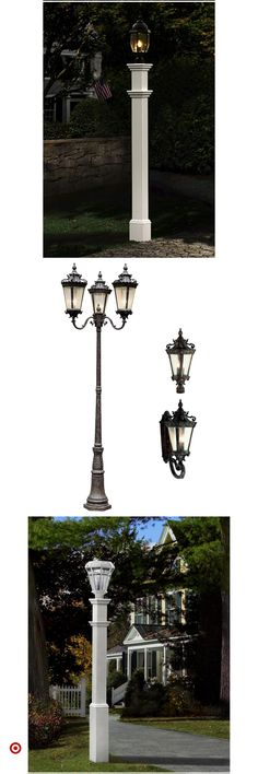 Shop Target for outdoor & lamp & posts you will love at great low. Best Picture For Diy Lamp Post Driveway Lighting, Backyard Lighting, Outdoor Lighting, Outdoor Lamp Posts, Outdoor Rooms, Lamp Post Lights, Small Backyard Patio, Garden Lanterns, Lantern Post