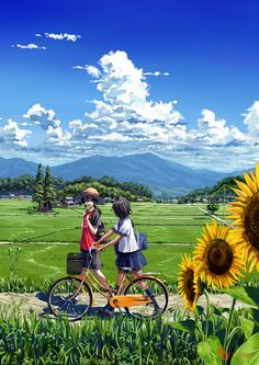 Often times, it's not about the boy or girl in the picture, but about the landscape, the scenery, the artist's attention to detail. That's what I love about anime and manga. Fan Art Anime, Anime Artwork, Anime Art Girl, Manga Art, Manga Anime, Anime Girls, Art Anime Fille, Character Illustration, Illustration Art