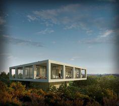 Sculptural structure above the landscape, Solo House Casa Pezo by Pezo Von Ellrichshausen Architects #architecture