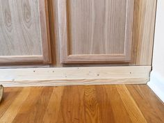 DIY Built In Cabinets - use prefab unfinished stock wall cabinets to create storage for your home. Unfinished Kitchen Cabinets, Used Kitchen Cabinets, Stock Cabinets, Ikea Cabinets, Built In Cabinets, Wall Cabinets, Bedroom Cabinets, Built In Buffet, Built In Dresser