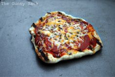 Grilled Pizza a good camping idea
