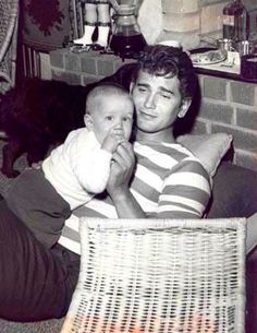 Michael Landon and his adopted son: Josh. Joe Francis, Daddy I Love You, Michael Landon, Old Movie Stars, Hooray For Hollywood, First Tv, Family Affair, Old Tv, Sound Of Music