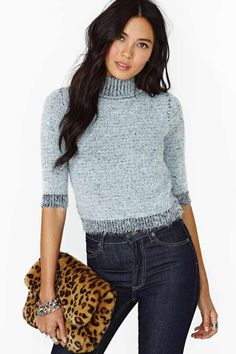 Motel Verona Crop Sweater