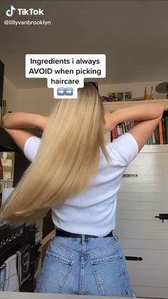 Long Hair Tips, Curly Hair Tips, Curly Hair Styles, Hair Growing Tips, Poofy Hair, Hair Secrets, Diy Hair Mask, Healthy Hair Tips, Aesthetic Hair
