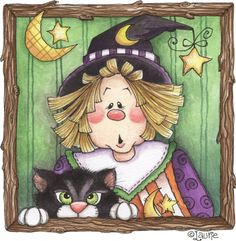 Witch and cat box
